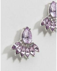 ASOS - Purple Occasion Teardrop Jewel Earrings - Lyst