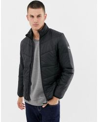 Only & Sons Black Quilted Jacket for men