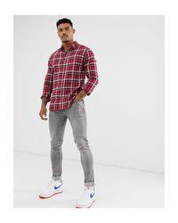 Chemise à carreaux Only & Sons pour homme en coloris Red
