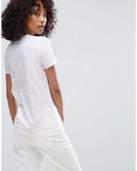 ASOS White Ultimate Stripe Crew Neck T-shirt