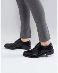 ALDO Branton Leather Brogue Shoes In Black for men