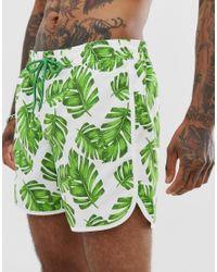 Белые Шорты С Принтом Листьев И Эластичной Талией South Beach для него, цвет: Green