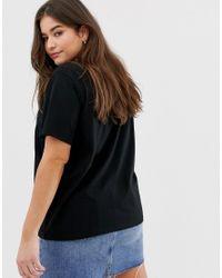 ASOS DESIGN Curve - Girls - T-shirt à motif effet dégradé ASOS en coloris Black