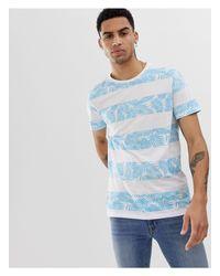 Camiseta con estampado Solid de hombre de color White