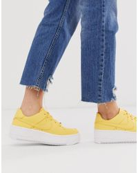 Nike Rubber Air Force 1 Sage Low Trainers in Yellow - Lyst