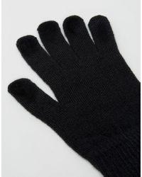 Gants pour cran tactile ASOS pour homme en coloris Black