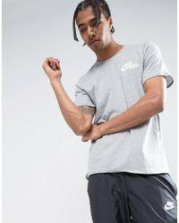 Nike Gray Hybrid Jdi T-shirt In Grey 847614-063 for men