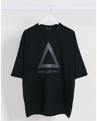 Unrivalled Supply - T-shirt oversize lunga di ASOS in Black da Uomo