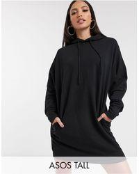 Vestido confort estilo sudadera ASOS de color Black