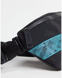 Черная Сумка-кошелек На Пояс С Логотипом -черный BOSS by Hugo Boss для него, цвет: Multicolor