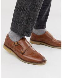 Светло-коричневые Кожаные Монки ASOS для него, цвет: Brown