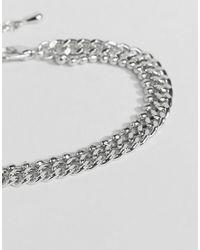 ASOS - Metallic Limited Edition Double Row Chain Bracelet - Lyst