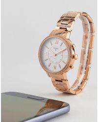 Fossil - Metallic Q Ftw5010 Virginia Bracelet Hybrid Smart Watch In Rose Gold 36mm for Men - Lyst
