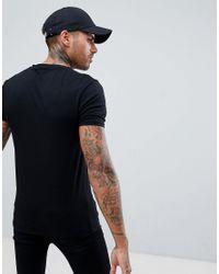 River Island Black Muscle Fit V-neck T-shirt for men