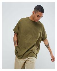 Camiseta verde extragrande ASOS de hombre de color Green