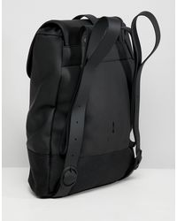 Rains Black Drawstring Backpack