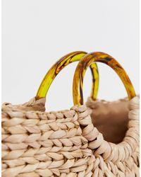 Эксклюзивная Полукруглая Соломенная Сумка С Черепаховыми Ручками -бежевый South Beach, цвет: Multicolor