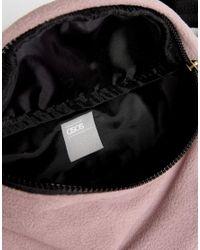 ASOS Purple Asos Bum Bag In Lilac Fleece for men