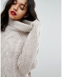 River Island - Multicolor Oversized Cable Knit Jumper Dress - Lyst