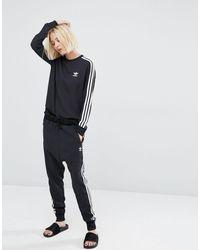 Шифоновый Свитшот С Тремя Полосками -черный Adidas Originals, цвет: Black