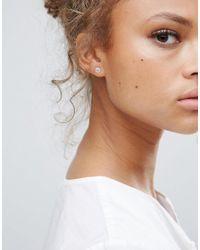 Pilgrim | Metallic Silver Plated Stud Earrings | Lyst