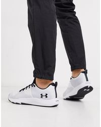 Under Armour White Training Charged Engage Trainers for men