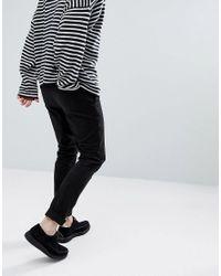 AllSaints - Slim Chino In Black for Men - Lyst
