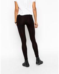 ASOS 2 Pack High Waisted Leggings In Black Save 10%