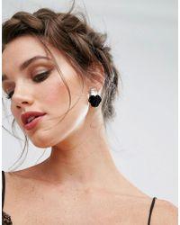 ALDO - Pink Flower Gem Through & Through Earrings - Lyst