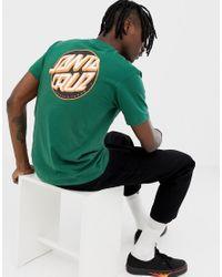 T-shirt avec logo dans le dos Santa Cruz pour homme en coloris Green