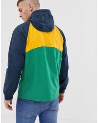 Coupe-vent à capuche color block avec logo emblématique - Multicolore Abercrombie & Fitch pour homme
