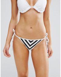 Seafolly - Black Coast To Coast Hipster Tie Side Bikini Bottom - Lyst