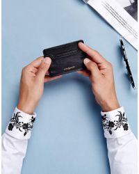Noose And Monkey Black Leather Card Holder