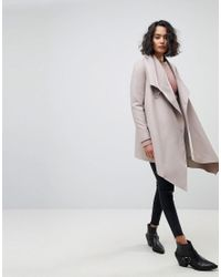AllSaints - Gray Wrap Buckle Detail Coat - Lyst