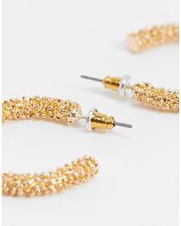 Золотистые Фактурные Серьги-кольца -золотой Accessorize, цвет: Metallic