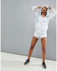 ASOS 4505 White Running Jacket In Sheer Reinforced Fabric