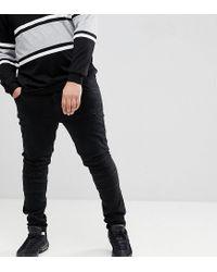Jean skinny style motard Jacamo pour homme en coloris Black