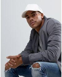 ASOS - Gray Trucker Cap In White for Men - Lyst