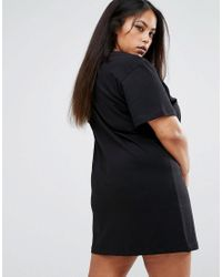 PUMA - White Exclusive To Asos Plus T-shirt Dress In Black - Lyst