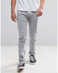 Levi's Gray Slim Jeans In Clean Flat Grey for men