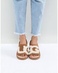 7e2e138ef0d UGG Slide Chestnut Slippers - Lyst