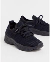 New Look Black – Sneaker mit dicker Sohle