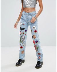 RAGYARD Blue Festival Western Patch 501 Jeans