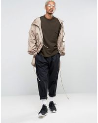 ASOS - Green Oversized Sweatshirt In Heavy Waffle Fabric for Men - Lyst
