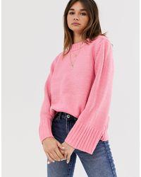 Pull à encolure montante Soaked In Luxury en coloris Pink