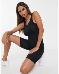 Черный Облегающий Комбинезон -черный Цвет Fashionkilla, цвет: Black