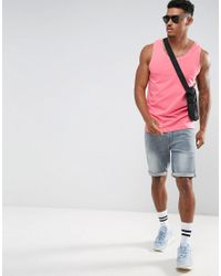 ASOS Muscle Tank In Pink for men