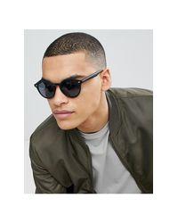 Occhiali da sole rotondi neri di New Look in Black da Uomo