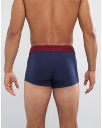 ASOS - Blue Hipsters In Navy With Burgundy Branded Waistband 3 Pack for Men - Lyst