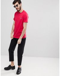 PS by Paul Smith Slim Fit Zebra Logo T-shirt In Red for men